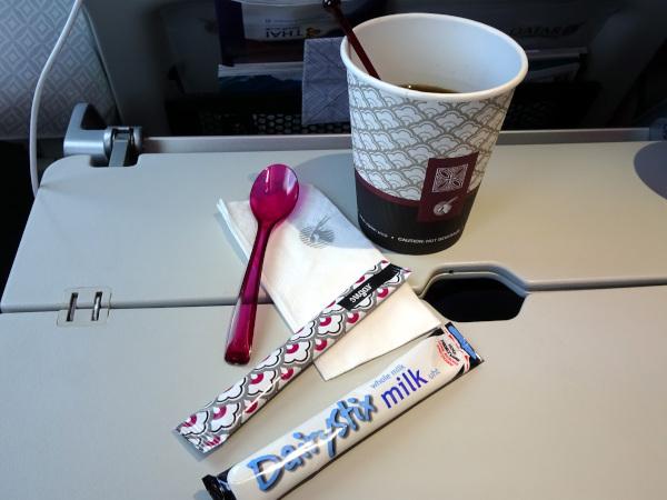 Café en Turista en Qatar Airways.