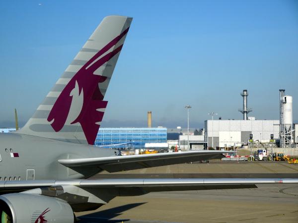 El órix en la cola de Qatar Airways.