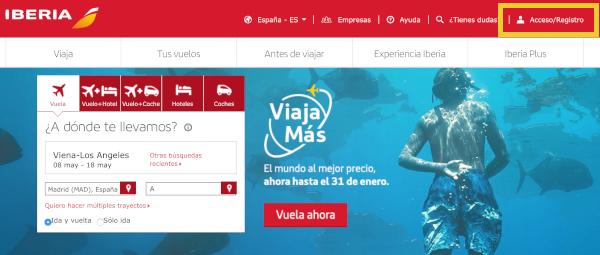 Cómo reservar un vuelo con Avios en Iberia Plus #1.