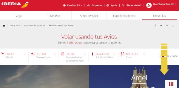 Cómo reservar un vuelo con Avios en Iberia Plus #5.