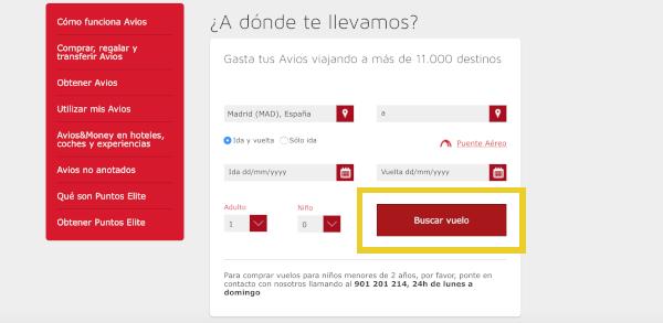 Cómo reservar un vuelo con Avios en Iberia Plus #7.