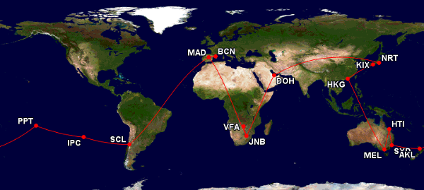 Cómo reservar una vuelta al mundo con Avios.