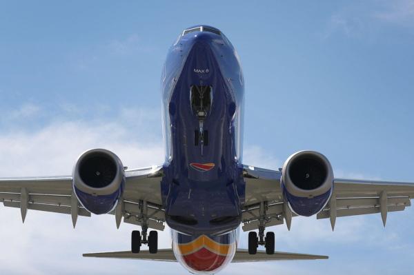 Un Boeing 737 MAX 8 de Southwest Airlines.