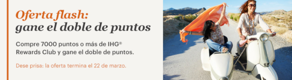 Oferta compra puntos IHG Rewards Club.