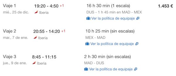 Ciudad de México en Business con Iberia.