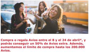 Compra Avios de Iberia Plus con un 50% adicional de puntos