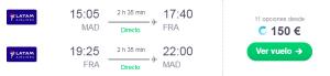 LATAM 150 eur i/v Madrid – Frankfurt en Business, TRIPLE Avios con Iberia ICON, Avios Nuevo Reto Iberia Plus