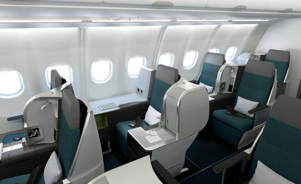 Clase Business A321 LR de Aer Lingus.