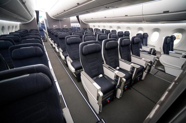 World Traveller Plus, A350 de British Airways.