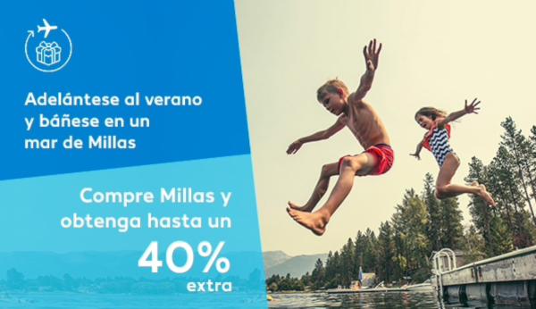Hasta 40% extra al comprar millas Air Europa Suma.