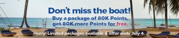 Excelente! Compra puntos Hilton Honors con un 100% extra.