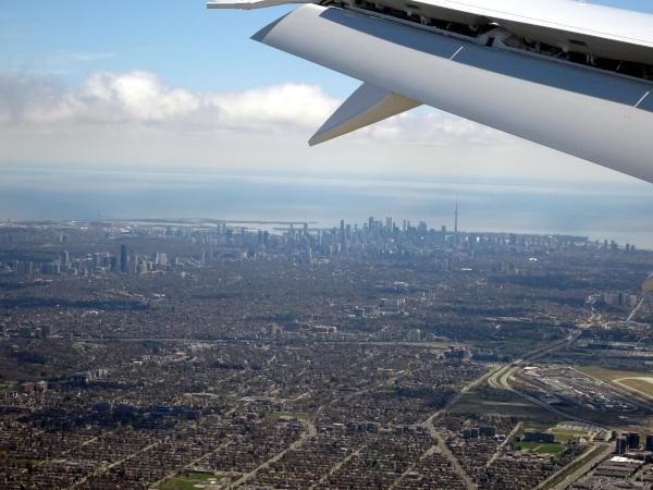 Skyline de Toronto, Air Canada 787.