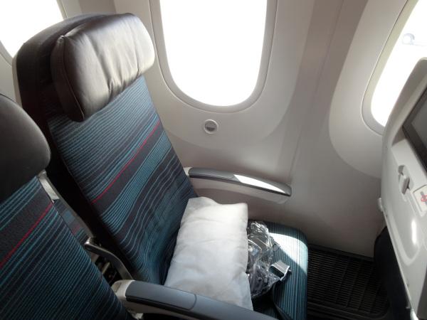 Asiento Turista Air Canada Dreamliner 787.