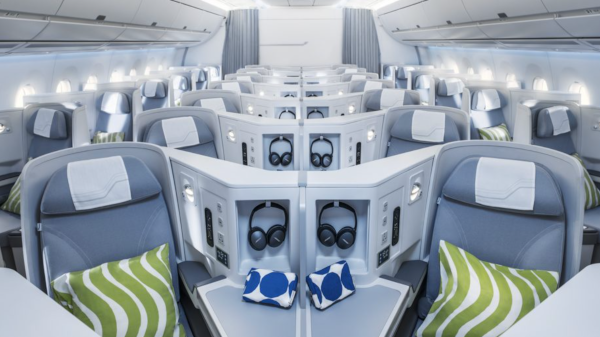 Clase Business Airbus A350 de Finnair.