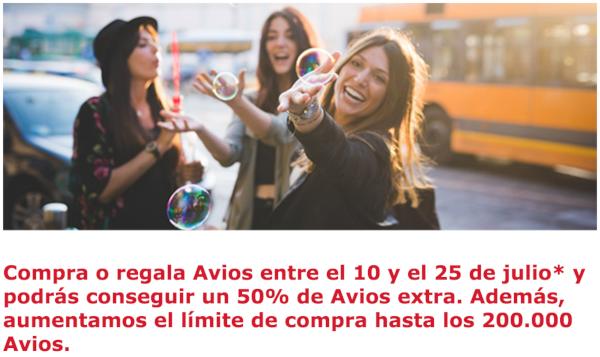 Compra Avios de Iberia Plus con un 50% adicional de puntos.