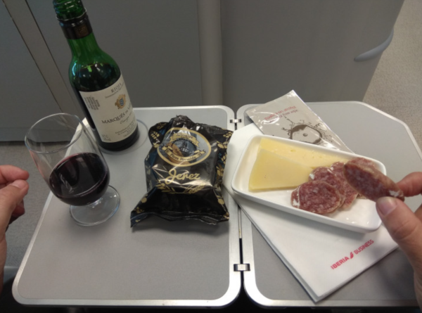 Nuevo menú Business de Iberia.