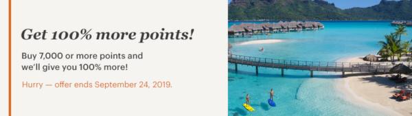 Compra puntos IHG Rewards Club con un 100% extra hasta el 24 de septiembre.