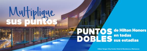 """Promo Hilton Honors otoño-invierno """"Power-UP"""": DOBLE puntos septiembre-enero."""