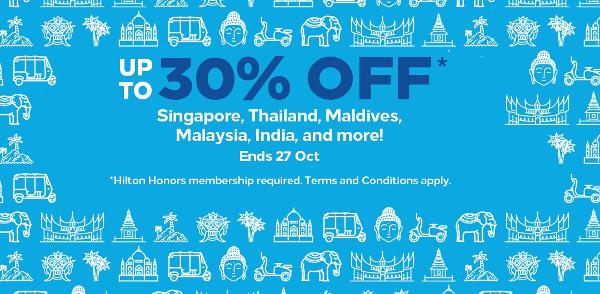 Ofertas Hilton en India y Sudeste Asiático.