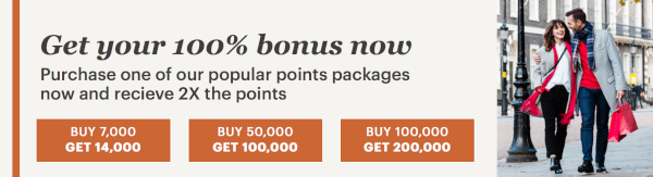 Compra puntos IHG Rewards Club con un 100% adicional.
