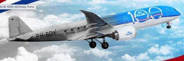 KLM centenario: 20% descuento.