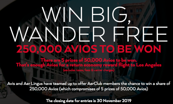 Gana 50.000 Avios con Avis.