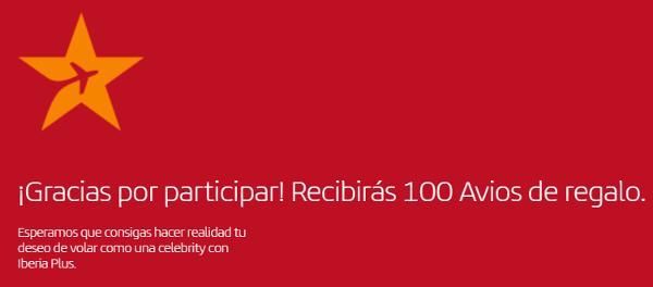 100 Avios GRATIS de Iberia Plus.