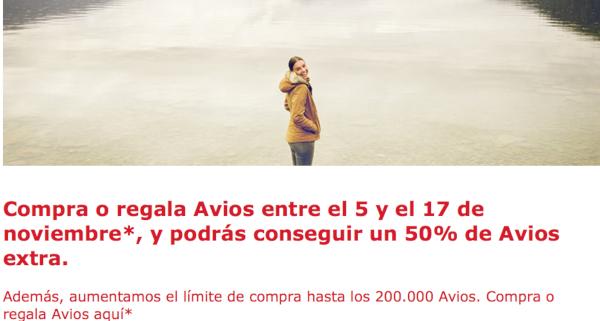 Compra Avios de Iberia Plus y recibe un 50% adicional hasta el 17 de noviembre.