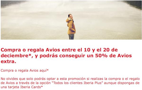 Compra Avios de Iberia Plus y recibe un 50% adicional hasta el 20 de diciembre.