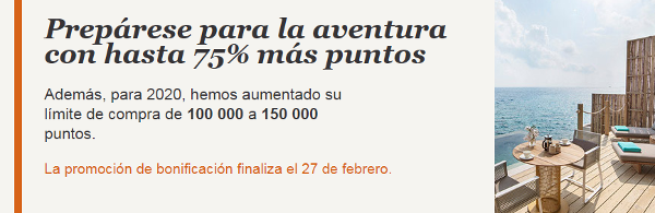 Compra puntos IHG Rewards Club con un 75% adicional.