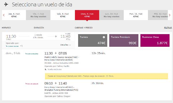 Iberia suspende sus vuelos a China por el brote de Coronavirus.