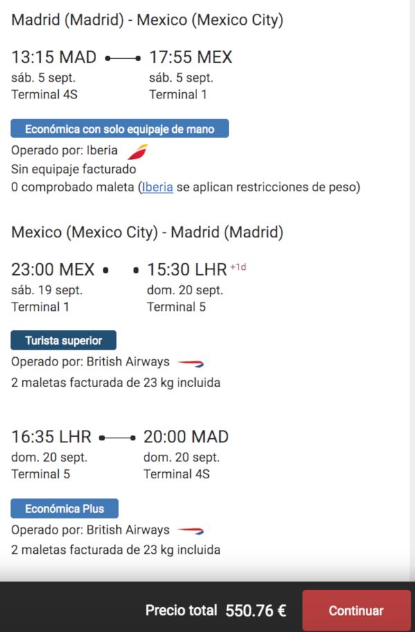El itinerario de Juan.