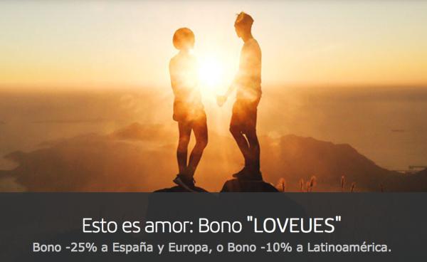 Oferta San Valentín Iberia: 10-25% descuento.