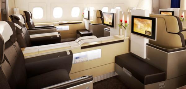 First Class de Lufthansa.