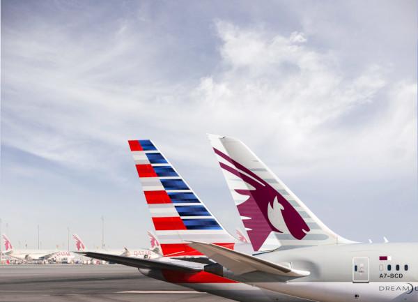 Qatar Airways y American Airlines.