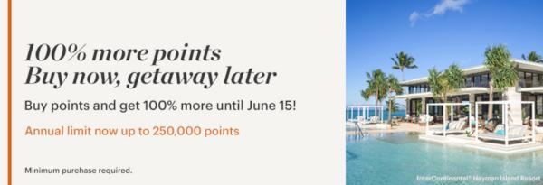 Compra puntos IHG Rewards Club con un 50% extra.