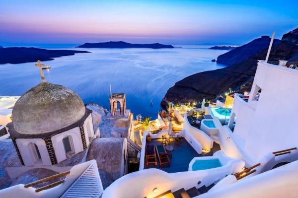 Santorini, una de las islas Cícladas.