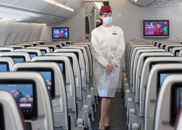 Nuevo equipo de protección individual de Qatar Airways.