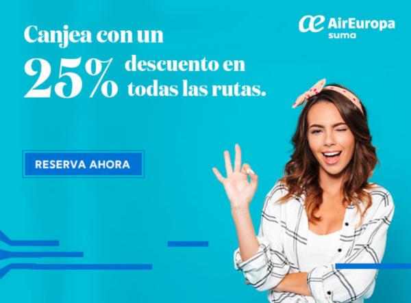 25% descuento Air Europa Suma.