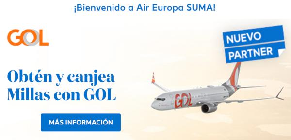 Gol nuevo partner Air Europa Suma.