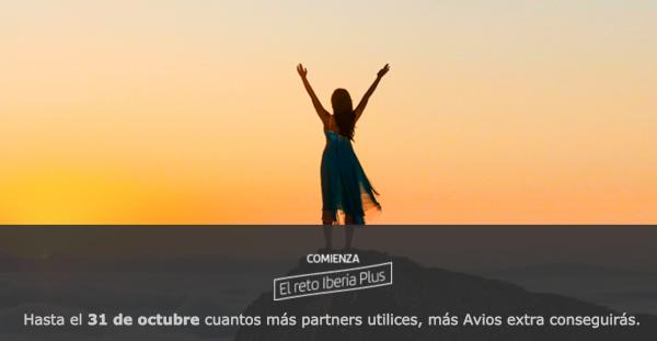 Reto Iberia Plus 2020: utiliza partners y recibe hasta 5.000 Avios extra.