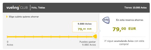 25% descuento en Avios volando con Vueling.