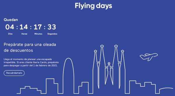 Flying Days de Iberia Cards.