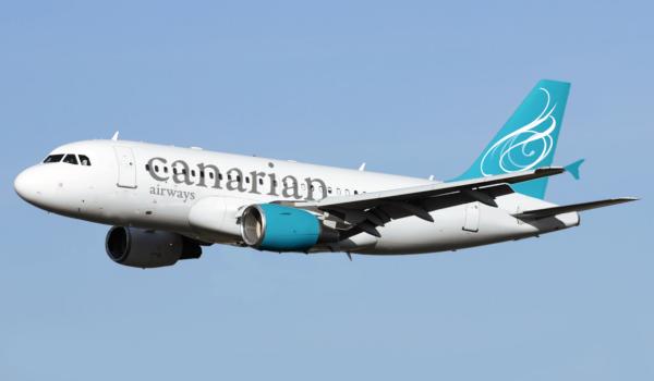 El Airbus A319 de Canarian Airways.