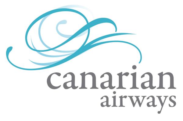 Logo y marca de Canarian Airways: