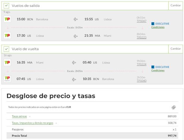 Vuela en Business a EE.UU. con TAP Portuga por 999€.