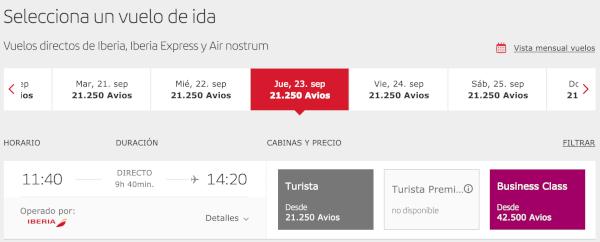 Reserva con Avios Madrid - Chicago, Iberia Plus.
