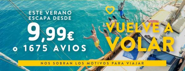 Vuela con Vueling a partir de 10€.