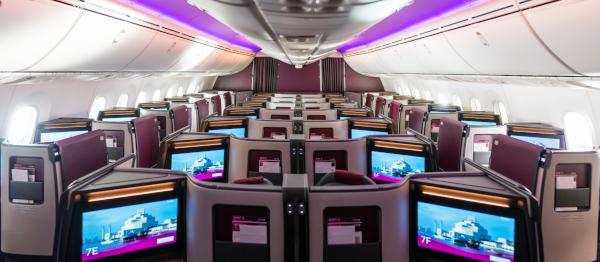 Qatar Airways Business Class Suite Dreamliner 787-9.